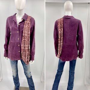 J.G. HOOK-Size 12-Royal Purple Leather Button Up